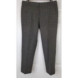 J.crew plaid wool fake pockets pants size 6
